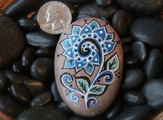 Hey, I found this really awesome Etsy listing at https://www.etsy.com/listing/230055677/painted-rock-blue-flower
