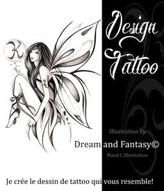 Créations graphiques pour TATOUAGES - MAUD LAMOINE    Illustration Fairy Drawings, Cool Drawings, Tattoo Drawings, Tattoos Skull, Body Art Tattoos, Sleeve Tattoos, Faerie Tattoo, Gladiolus Tattoo, Buho Tattoo