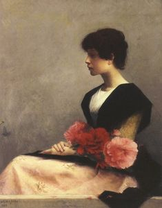 saloandseverine:    Alfred Agache, Sitting Girl With Flowers on Her Lap,1889