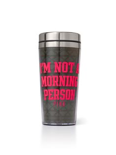 Coffee Tumbler - PINK - Victoria's Secret - it doesn't have to be this one but I… Victoria Secret Outfits, Love List, Coffee Tumbler, Cute Cups, Pink Nation, Pink Accessories, Cute Backpacks, Pink Brand, All Gifts