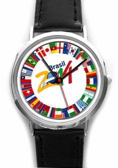 World Cup 2014 Memorabilia Wristwatch. Football by YourWatchDesign, £21.99
