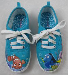 Custom Hand Painted Shoes Kids Disney Finding Nemo by FancyFeetArt, $119.00