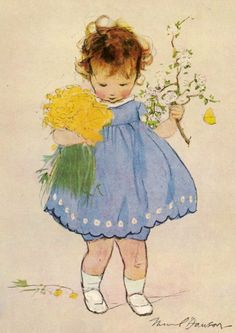 :: Sweet Illustrated Storytime :: Illustration by Muriel Dawson :: Spring Flowers