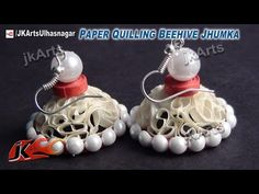 """▶ How to make Beautiful Paper """"Earring"""" quilling video #QuillingArtDesign - YouTube"""