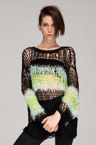 cute, punk open knit sweater via FrontRowShop