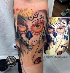 Muerte tattoo by Borja Amez