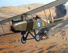 Airco DH 9 over Palestine, by Steve Anderson                                                                                                                                                                                 More
