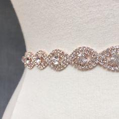 Rose Gold Bridal belt