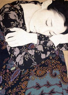 Ikenaga Yasunari(池永康晟)Japanese Mineral Pigment Painting. Fine style, composition and subject material.  :  )