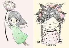 printables | drawings | tekeningen | illustrations | girlsroom | kinderkamervintage