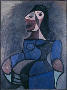 Pablo Picasso「Femme en bleu」(1944)