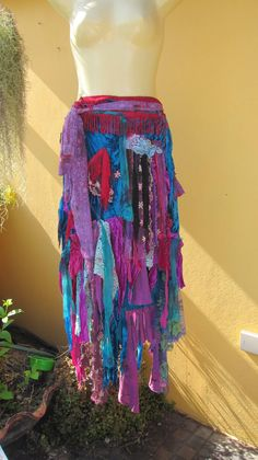 vintage inspired velvet bohemian gypsy wrap skirt.....she's had adventures.... $105.00, via Etsy.