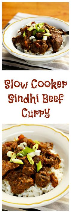 Slow cooker Sindhi beef curry can cook all day while you're at work.
