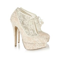 Charlotte Olympia�|�Minerva lace and satin ankle b ($1160.00)