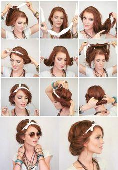 ▷ inspiring ideas for cool bandana hairstyles bandana-binden-rote-lange-haare. Scarf Hairstyles, Short Bob Hairstyles, Cute Hairstyles, Braided Hairstyles, Wedding Hairstyles, School Hairstyles, Everyday Hairstyles, Summer Hairstyles, Braid Hairstyles