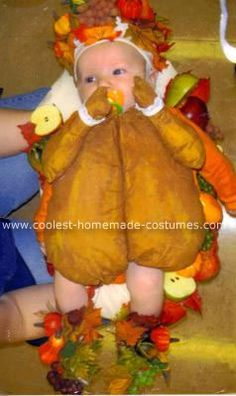 Homemade Roast Turkey Baby Costume... This website is the Pinterest of funny Halloween costumes