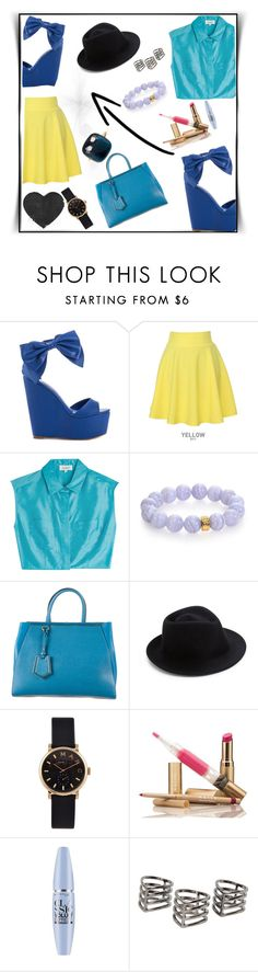 """*-*"" by aumnea ❤ liked on Polyvore featuring Privileged, QNIGIRLS, Isa Arfen, Nest, Fendi, Eugenia Kim, Marc by Marc Jacobs, Maybelline, MANGO and Pomellato"