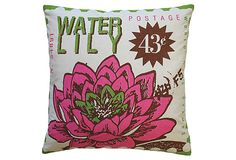 Water Lily 20x20 Pillow, Multi