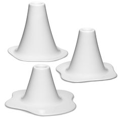 Lava candlesticks, set of 3