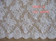 Choose the lace you like (option 3). Wedding Lace Trim Alencon Lace Embroidered Tulle by hundredmiles, $22.00