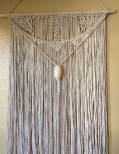 Macrame / Macrame Wall Hanging / Modern Macrame by BarefootDrifter