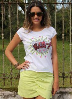 Camiseta Meia Malha Branca Up Close - Posthaus