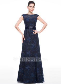 9cd1d3b16cd2d0 ... Floor-Length Ruffle Beading Sequins Zipper Up Cap Straps Sleeveless Yes  2015 Dark Navy Spring Summer Fall General Plus Lace Mother of the Bride  Dress