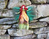 Fairy Ivy needle felted and waldorf inspried por LivelySheep