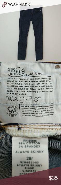 Gap 1969 28R Always Skinny Cotton Spandex Blend Gap 1969 28R Always Skinny Cotton Spandex Blend GAP Jeans Skinny