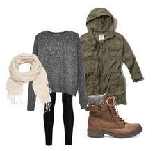 """""""casual fall attire"""" by melissakelleyy ❤ liked on Polyvore featuring moda, Abercrombie & Fitch, Donna Karan, French Connection, Steve Madden i maurices"""