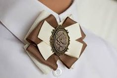 Ribbon Decorations, Ribbon Art, Beige, Scarves, Brooch, Halloween, Jewelry, Fashion, Ties