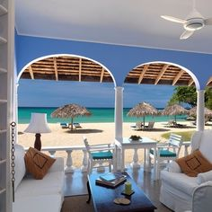 Lots of caribbean homes of an outdoor/indoor living space and this is a great example