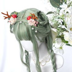 Kawaii Hairstyles, Pretty Hairstyles, Wig Hairstyles, Fantasy Hairstyles, Drawing Hairstyles, Kawaii Wigs, Lolita Hair, Hair Reference, Wigs With Bangs