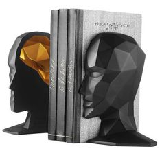 LOVE THIS: 2 Piece Knowledge in the Brain Bookend Set