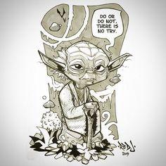 Master Yoda. #inktober by sommariva