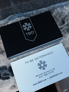 TBD foil stamp and duplex business cards by Miaso Design