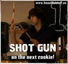 Shot Gun on the next cookie #JimPovolo #LittleWhiteLie #StarKid www.beautifulstuff.us - An interactive fan community and StarKid fan site featuring games, quizzes, information, videos, photos, and much more.