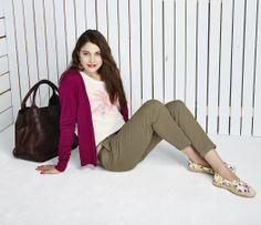 Cardigan in #Pink mit passendem #Shirt und lässiger 7/8 Hose by Brigitte von Boch #bevonboch