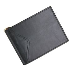 Royce Leather Men's Cash Clip Wallet With Outside Pocket Top Grain Nappa Leather 108-BLACK-5