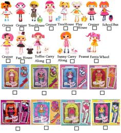 One of many lalaloopsy check lists