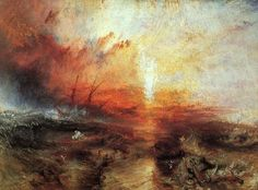 slave ship (slavers throwing overboard the dead and dying, typhoon coming on) by joseph mallord william turner, 1840