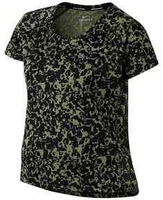 Nike Dry Miler Running Top Palm Green Camo Plus Size - for sale online Plus Size Kleidung, Athletic Wear, Classic Looks, Plus Size Outfits, Camo, Nike Women, Men Casual, Green, Mens Tops