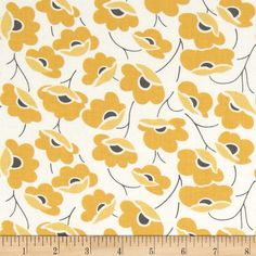 Moda Color Theory Poppies Mustard from @fabricdotcom  Designed by Vanessa Christenson of V and Co. for Moda, this cotton print fabric is perfect for quilting, apparel and home decor accents. Colors include white, dark grey and shades of yellow.
