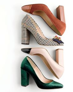 "I love the chunky heel - a little high for my preferences - would like the 2"" heel better.   J.Crew women's Lena pumps."