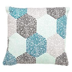 Elemis Cushion Diamond Geo Teal x Cushion Diamond, Geo, Cushions, Throw Pillows, Kids, Young Children, Toss Pillows, Toss Pillows, Boys