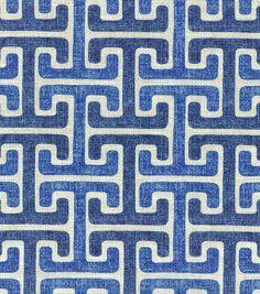 Home Decor Print Fabric- Swavelle Millcreek Chiara Sussex Denim