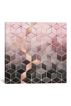 Pink And Grey Cubes by Elisabeth Fredriksson Canvas Print on @HauteLook