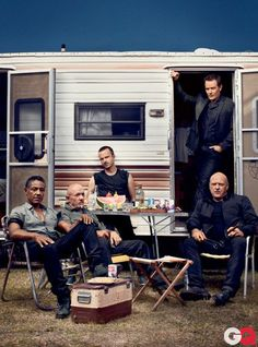 The Guys of Breaking Bad (Giancarlo Esposito aka Gustavo, Jonathan Banks aka Mike, Aaron Paul aka Jesse, Bryan Cranston aka Walt, Dean Norris aka Hank)