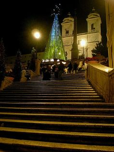 Trinità dei Monti - Spanish Steps at Christmas time, Rome