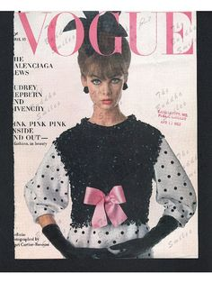 Original Vogue magazine cover April 15 1963 by TheBuddhaSmiles Vogue Magazine Covers, The Originals, Trending Outfits, Handmade Gifts, Pink, Inspiration, Beauty, Vintage, Etsy
